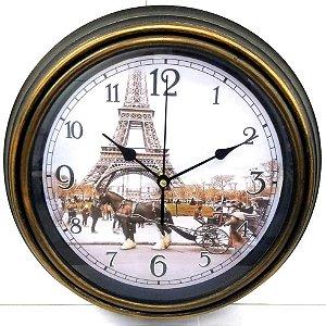 Relogio de parede 30 cm - redondo - TORRE EILFEL Paris - Ref.570-EILFEL