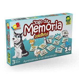 Jogo Pedagogico Brinquedo Educativo IOB Madeira - Jogo da Memoria COLETIVO DE ANIMAIS - Ref.66