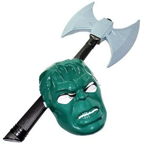 Machado com Mascara Gladiador HULK - Linha Herois - Ref.5024 LePlastic fte