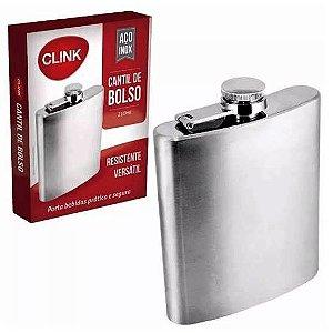 Cantil de Bolso - Porta Bebida em Aco Inox - 210 ml - CK1231