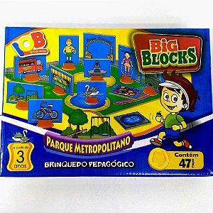 Jogo Pedagogico Brinquedo Educativo - Big Blocks  Parque Metropolitano Cidades - IOB Madeira Ref.154