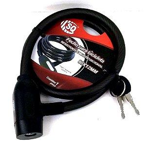 Cadeado para Bicicleta com chave - Cadeado Multiuso - 80 cm -SQ3043