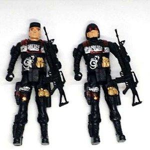 Boneco Articulado - Policial - Soldado - 17 cm - BA17888