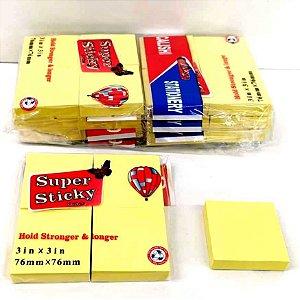 Kit com 6 Pacotinhos de POST IT para Anotacoes  - Cada pacotinho de Postit tem 4 bloquinhos - BJ7903