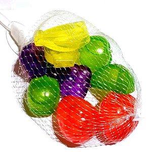 Cubo Gelo Plástico Ecológico Reutilizável Sortido 9 Peças FRUTAS Ref. BJ6206