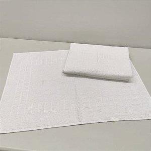 Piso de Banheiro Felpudo linha Hotelaria PROFISSIONAL liso - Tapete para banheiro Branco - 585 grm2 - RUBI DMATOS