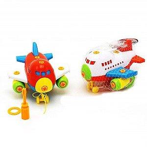 Brinquedo Educativo - Aviao de Montar - Monte e Brinque - BA11312 mv