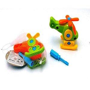 Brinquedo Educativo - Helicoptero de Montar - Monte e Brinque - BA12483