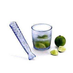 Kit Caipirinha com 2 pecas - Copo 600 ml com Socador- Ref.740 - Agraplast