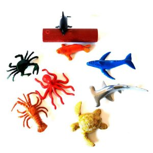 Bichinhos de brinquedo - AMINAL MARINHO - com 9 pecas - Ref. BA12466