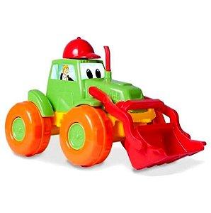 Trator de Brinquedo - Escavadeira  22 cm - DivPlast Ref.117