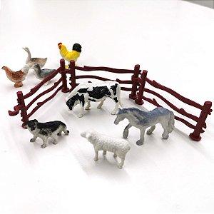 Bichinhos de brinquedo - FAZENDINHA  - com 9 pecas - Ref. BA12466-fazenda
