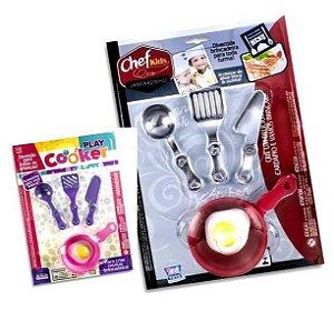 Frigideira de brinquedos com 5 pecas - Brinquedo Kit de Cozinha Altimar - Ref.7724 7726