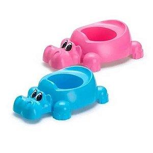 Penico Troninho Hipopótamo Giotto Azul ou Rosa Ref.029