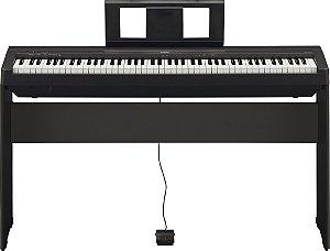 Piano Digital Yamaha P-45 Com Suporte L-85 + Fonte