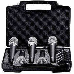 Kit Microfone Superlux Pra D3/D5 (com cinco peças)