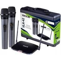 Microfone Vokal Duplo Vla42 Sem Fio