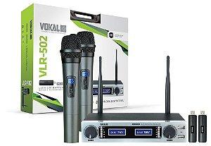 Microfone Sem Fio Duplo VLR 502
