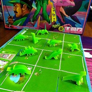 Ilha dos Dinossauros + Moedas de Metal + DinoMeeples