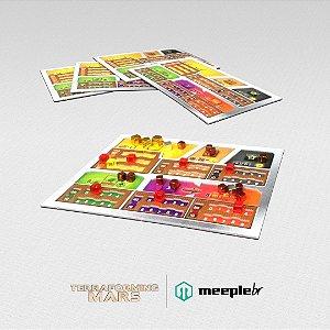 Terraforming Mars: Kit de Extras do KickStarter Reviravolta (Turmoil) - Tabuleiros do jogador + Cartas promocionais