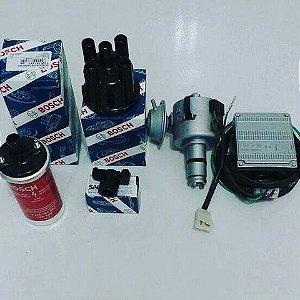 kit completo motor a ar fusca e derivados (distribuidor,módulo,chicote,bobina,tampa e rotor )