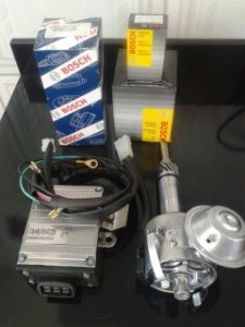 KIT COMPLETO DE C10 6CC E DERIVADOS (distribuidor,módulo,chicote,bobina,tampa 6cc e rotor  )
