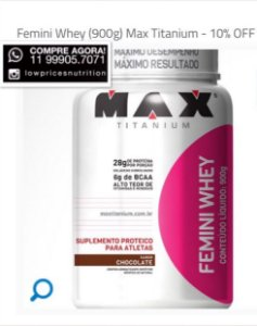 Femini Whey (900g) - Whey Protein