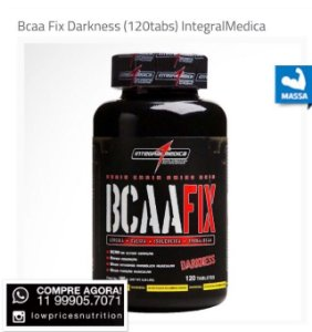 Bcaa Fix Darkness (120tabs) Integral Médica