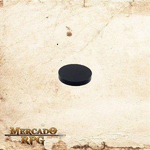 Base redonda em acrílico preta 20mm