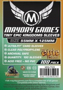 "Sleeves Mayday ""Tiny Epic Kingdoms"" Card Sleeves (88x125mm) - Standard Protection ( Com 100 protetores de cartas)"