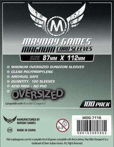 Munchkin Dungeon Card Sleeves - Magnum Oversized (87x112mm) - Standard Protection (Com 100 protetores de cartas)