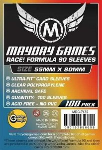 "Sleeves Mayday ""Race! Formula 90"" Card Sleeves - Ultra Fit (55x80mm) - Standard Protection (Com 100 protetores de cartas)"