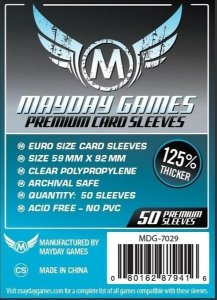 Sleeves Mayday Euro Card Sleeves (59x92mm) - Premium Protection (Com 50 protetores de cartas)