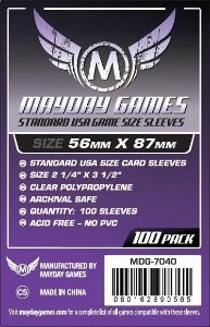 Sleeves Mayday Standard USA Card Sleeves (56x87mm) - Standard Protection (Com 100 protetores de cartas)
