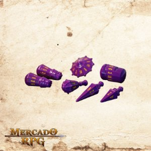 Poly Hero Dice - Vorpal Purple & Amber