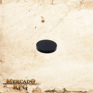 Base redonda em acrílico preta 25mm