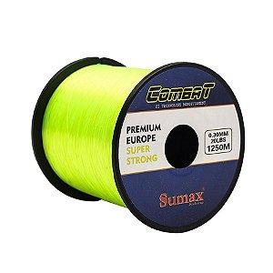Linha Monofilamento Sumax Combat 0.30mm 20lb 9kg 1250m Amarela