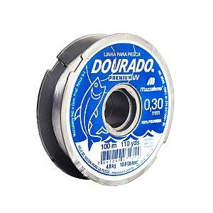 Linha Monofilamento Mazzaferro Dourado Premium 0.30mm 10,6lb 4,8kg 100m