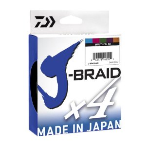 Linha Multifilamento Daiwa J-Braid 4x Multicolor 0.25mm 30lb 13,6kg 300m