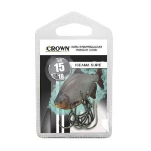 Anzol Crown Iseama Sure Black Sem Farpa