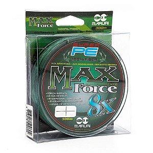 Linha Multifilamento Maruri Super PE Max Force 8x 0.27mm 30lb 13,6kg 300m