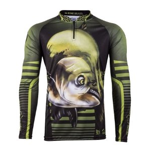 Camiseta de Pesca King KFF81 Tamba Proteção Solar UV 50+