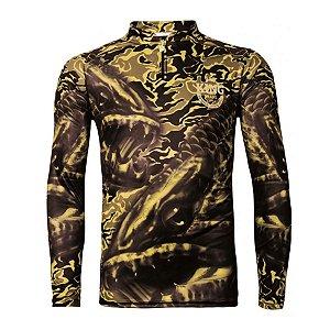 Camiseta de Pesca King KFF104 Trairão Proteção Solar UV 50+