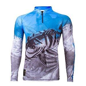 Camiseta de Pesca King KFF106 Tucunaré Proteção Solar UV 50+