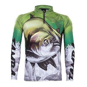 Camiseta de Pesca King KFF205 Tamba Proteção Solar UV 50+