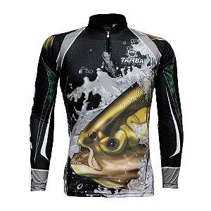 Camiseta de Pesca King KFF304 Tamba Proteção Solar UV 50+
