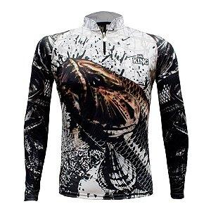 Camiseta de Pesca King KFF630 Trairão Proteção Solar UV 50+