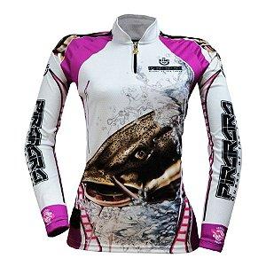 Camiseta de Pesca King KFF401 Pirarara Proteção Solar UV 50+