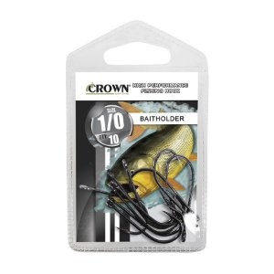 Anzol Crown Baitholder Black para Dourado