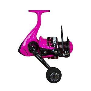 Molinete Sumax Rainbow Spin 4000 5.2:1 4 Rolamentos Rosa
